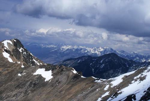 Mount Cowen sits in the...