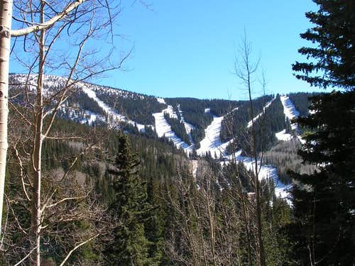 View of Santa Fe Ski Area on...