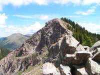 Lake Peak with Santa Fe Baldy...