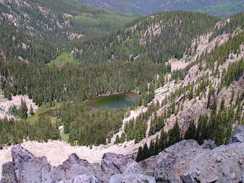 Nambe Lake from Lake Peak