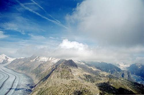 View from the Eggishorn to...