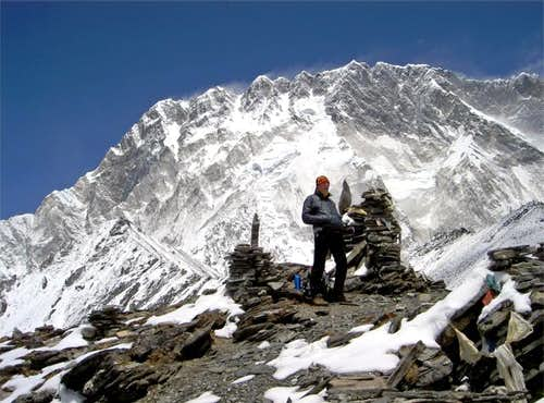 The summit of Chukkung Ri,...