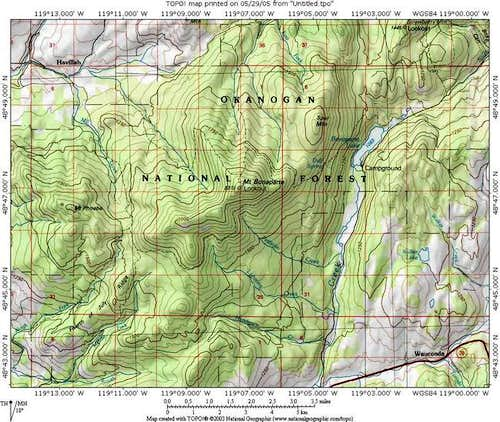 Mount Bonaparte vicinity map,...