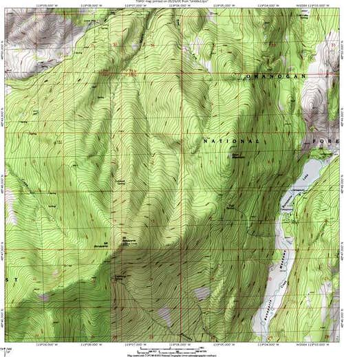 Mount Bonaparte topo map...