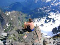 Relaxing on summit blocks,...