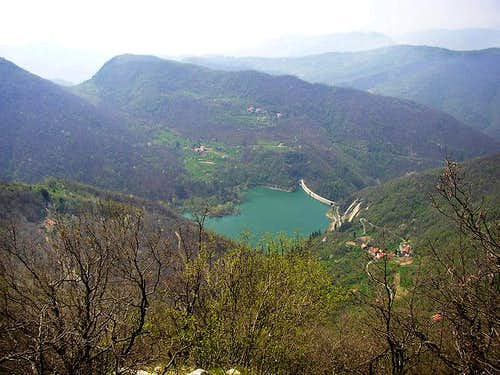 Val Noci Lake from the top of...