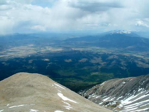 Arkansas valley from the summit
