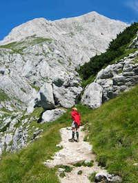 The peak lies just ahead, up...