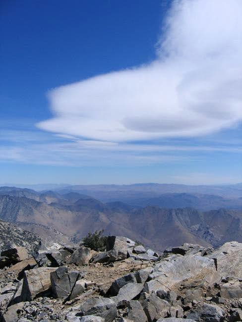 Summit view on a windy day -...