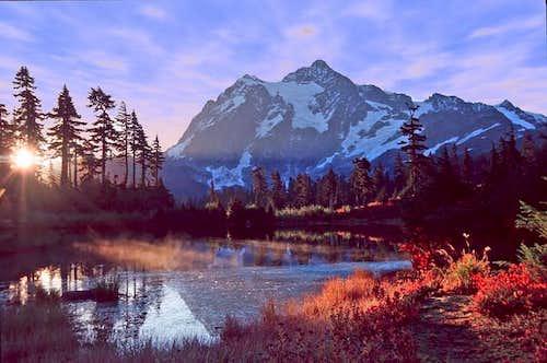 Mt. Shuksan reflected in...