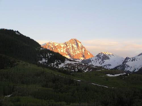 27 May 2005 - Alpenglow on...