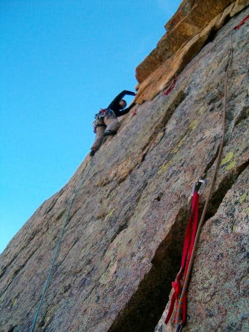 Jolee leading the 5.7 roof...