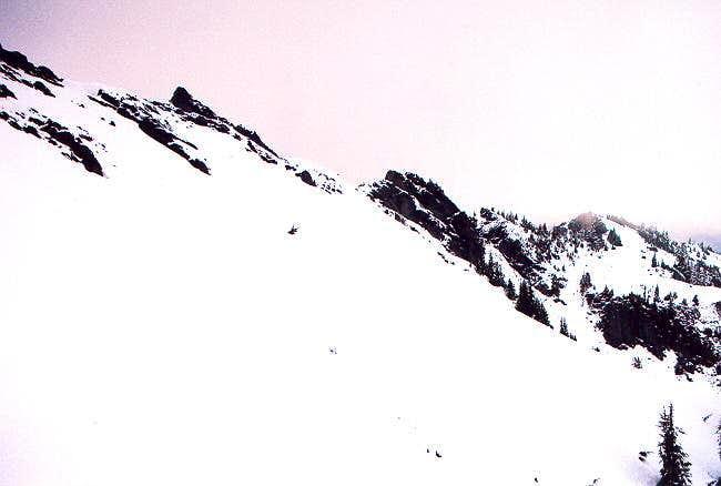 The summit ridge of Mt. Wow...