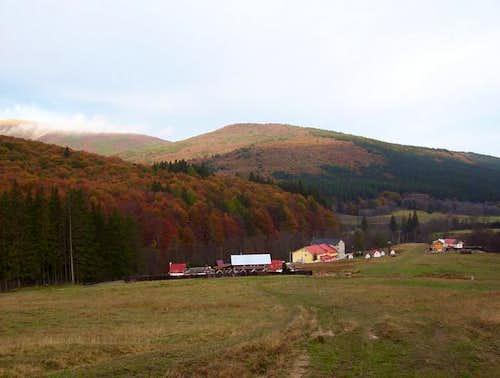 Babarunca huts in an autumn...