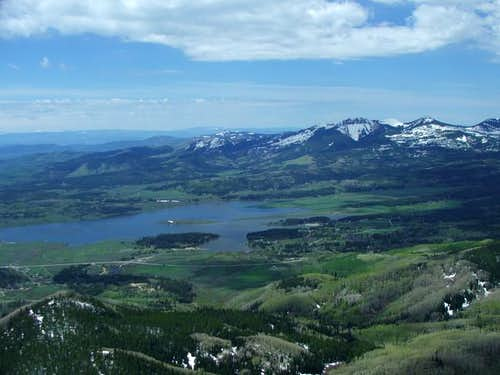 View of Steamboat Lake and...