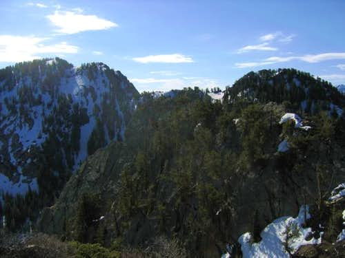 View from the summit of Triangle Peak