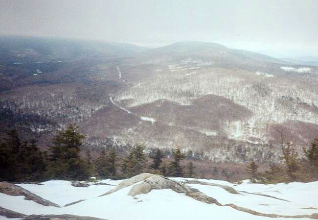 View east off of the summit...