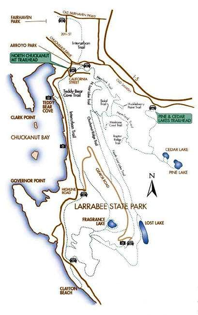 A map of the trail system...