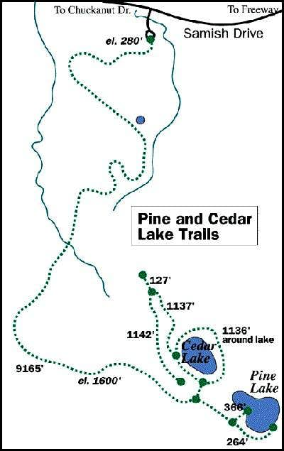Map of Pine and Cedar Lakes...