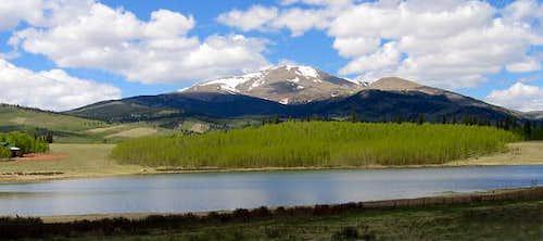 Mount Silverheels viewed from...