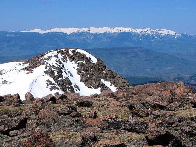 The view of West Elk Peak...