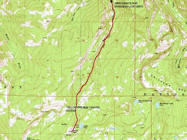 The Box Canyon Route is...