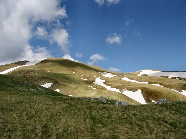 Western slopes of Maglič mountain, just below its main summit Veliki Maglič (2,142 m)