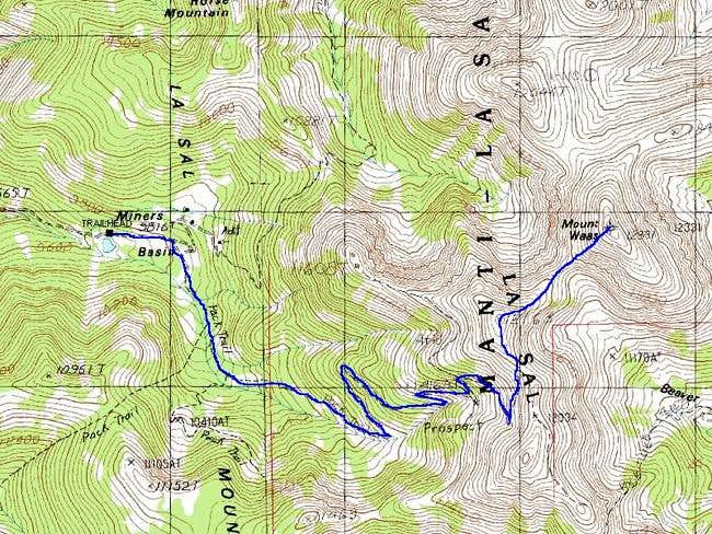 Miners Basin Route to Mount...