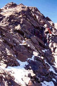 Doug Solfermoser climbing the...