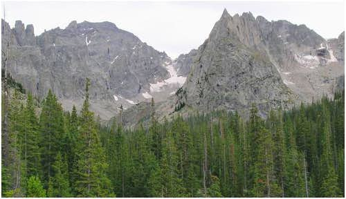Lone Eagle Peak takes center...