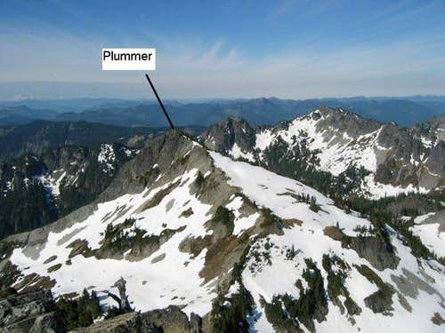 Plummer Peak seen from summit...