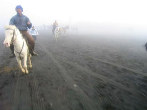 The approach to Bromo can be...