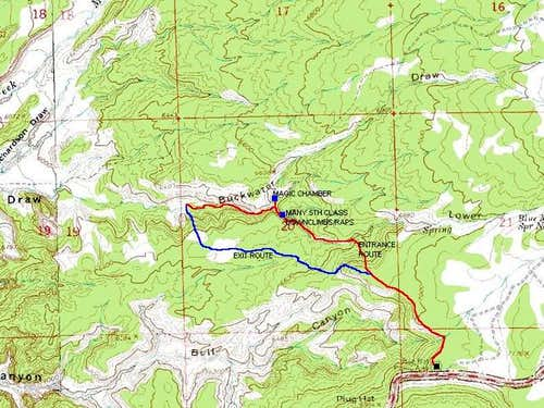 Map showing the South Fork...