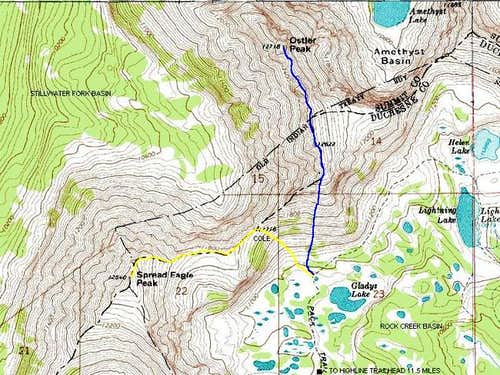 Hayden Pass to Rock Creek Route