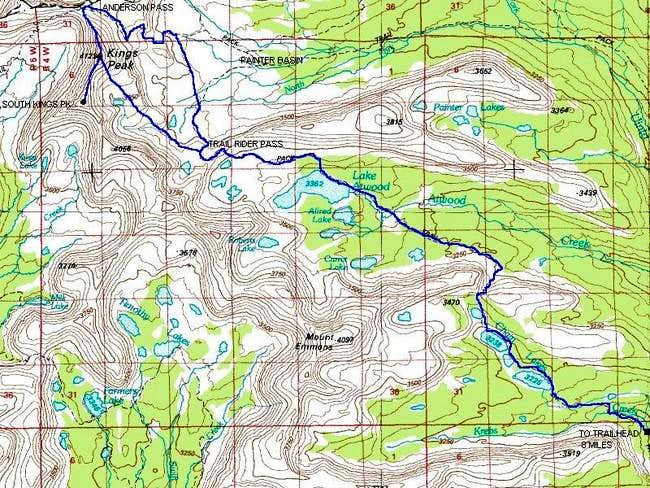 Uinta River Route to South...