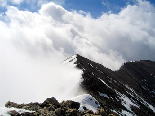 Mt Buckskin\'s summit shrouded...