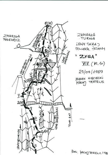 'Zyga' on south-east face of...