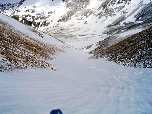 Looking down the west gully...
