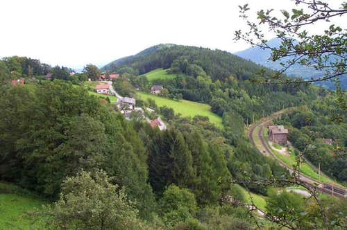 The Semmering train line from...