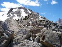 The east ridge looking toward...