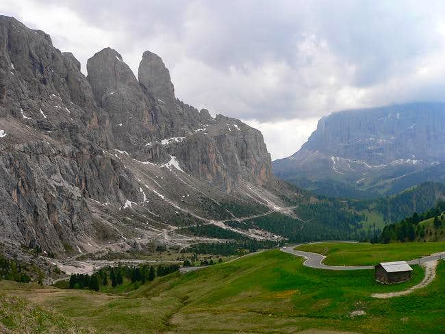 Sella Group from Passo Gardena