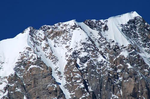 Upper part of Mont Blanc de...