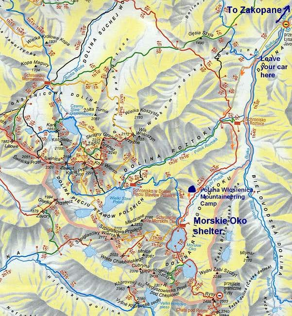 See how to get to Morskie Oko...