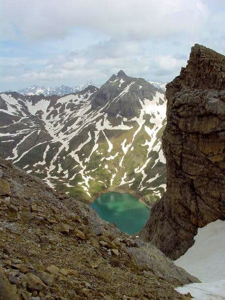 View of the 2 summits of...