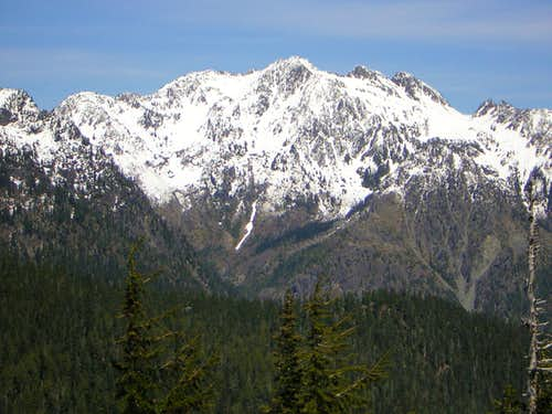 The Mount Skokomish massif...
