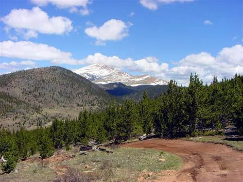 View of Pikes Peak near the...