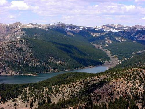 View above Mason Reservoir...