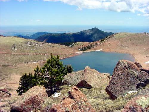 Mt. Rosa behind and below...