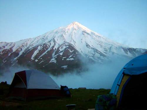 North face of Damavand mount...