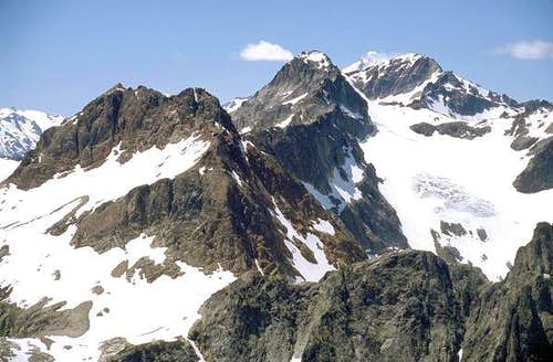 The top of Glacier Peak is...